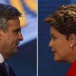 El socialdemócrata Aécio Neves y la presidenta Dilma Rousseff se enfrentan hoy en las urnas en la segunda vuelta electoral en Brasil. foto edh / EFE