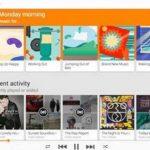 Imagen provista por Google de la nueva función de música ambiental, un servicio de paga que ofrece el buscador de interne a través de Google Play.