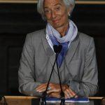Christine Lagarde, directora del FMI, dio su perspectiva sobre la economía. foto edh /