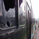 Bus ametrallado por pandilleros.
