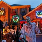 Fotos y video: Decoran gran parte de vivienda para celebrar Halloween