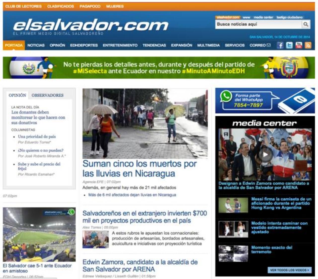 El estudio de comScore destacaba a elsalvador.com entre los cinco sitios con mayor tráfico en Centroamérica.Audiencias compartieron resultados por comScore y aplaudieron el trabajo efectuado por la plataforma digital.