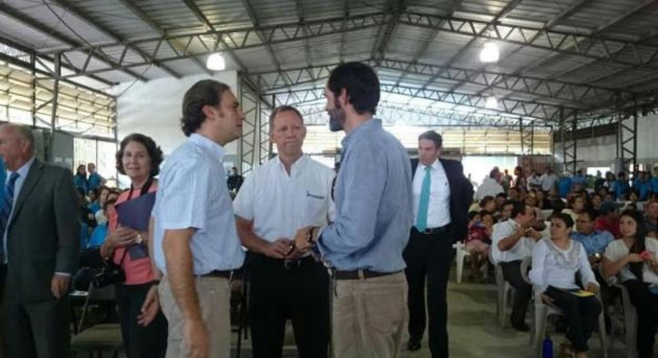 Alejandro Poma, de Fusal; José Ángel Quirós, director Ejecutivo de Fusades y Arturo Sagrera fueron los invitados de honor del evento.