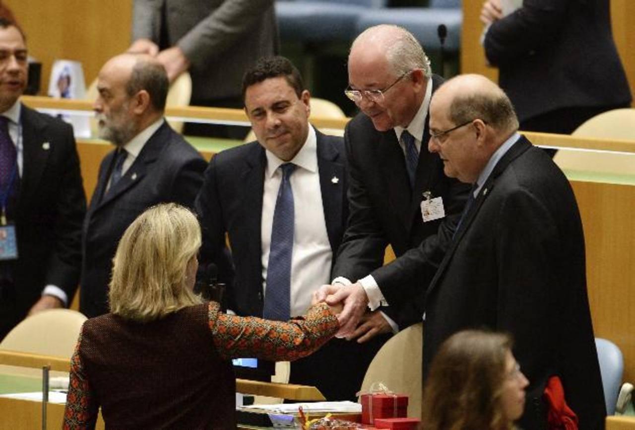 El canciller venezolano, Rafael Ramírez, ayer, en la ONU.