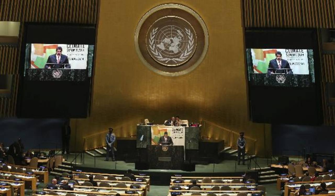 El mandatario venezolano, Nicolás Maduro, en reciente intervención ante la ONU. foto edh /archivo