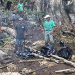 Lugar donde fue masacrada la familia Paajá, en el municipio de Dolores, en Petén. foto edh / Tomada de prensa libre