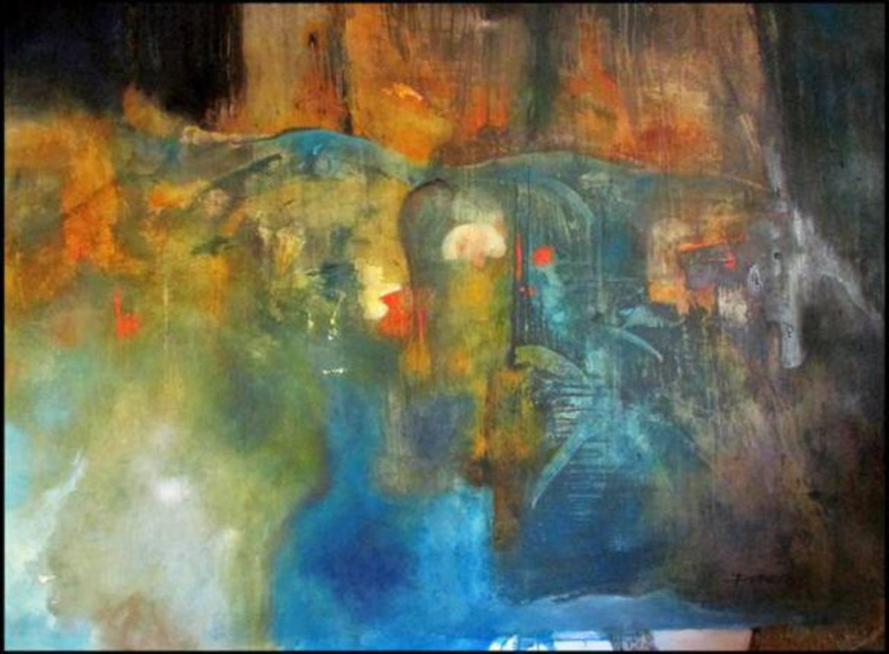 """Imagen de la obra """" La muerte del ángel de la vida"""", que participará en la exhibición."""