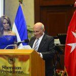 El presidente de la Orden de Malta El Salvador, Pedro Houdelot, durante su discurso. Fotos edh / RENÉ ESTRADA