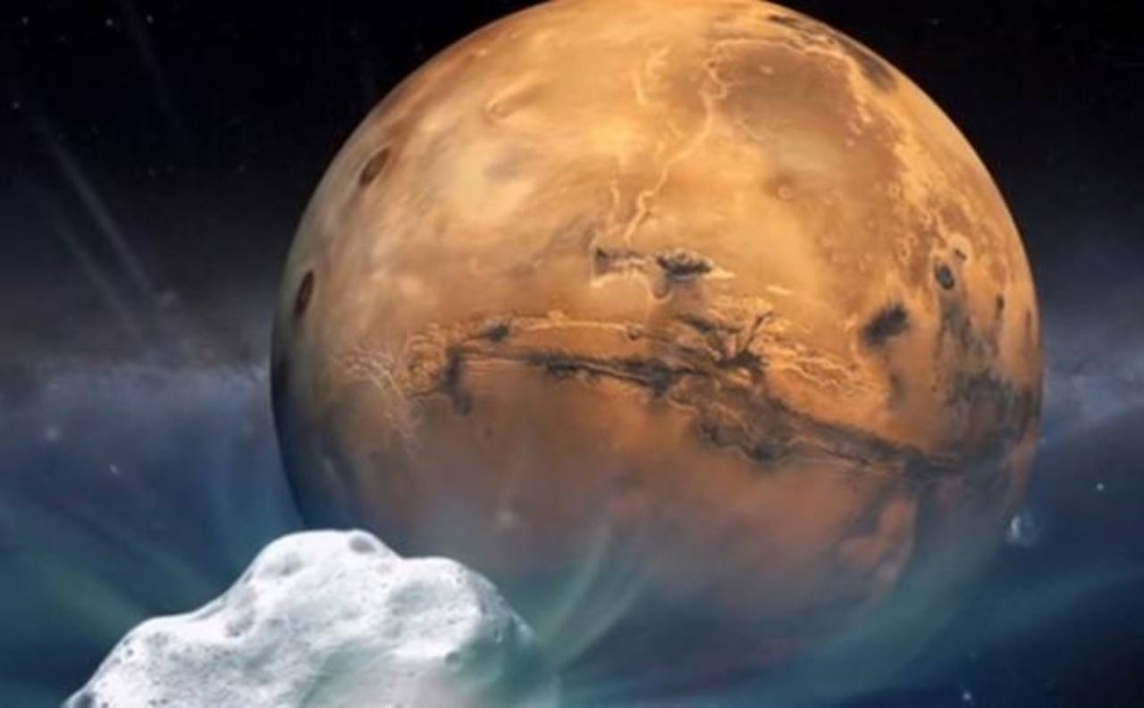 La NASA observará con detalle el raro roce de cometa con Marte
