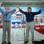 Edwin Zamora, candidato a alcalde de San Salvador, junto a Norman Quijano
