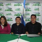 Émerson Pinto (tercero de izquierda a derecha) y dirigentes del movimiento. Foto EDH / cortesía