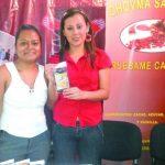 Fátima Rodríguez y Carmen Arévalo, han creado chocolate Chovma y esperan que los salvadoreños puedan conocerlo.