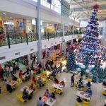 La ilusión de la navidad ya está latente en los pasillos y diferentes negocios que están en esta plaza donde la seguridad y comodidad son parte de su atractivo. Foto EDH/ René Quintanilla