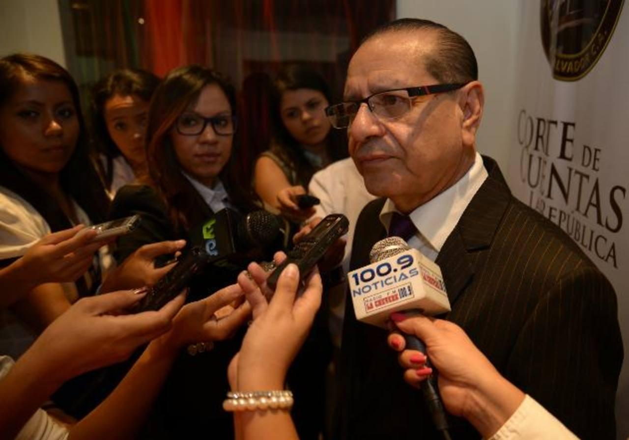 Rosalío Tóchez terminó su período de un año al frente de la Corte de Cuentas el 30 de junio pasado, luego de que la Asamblea no avalara su reelección. Foto EDH / archivo