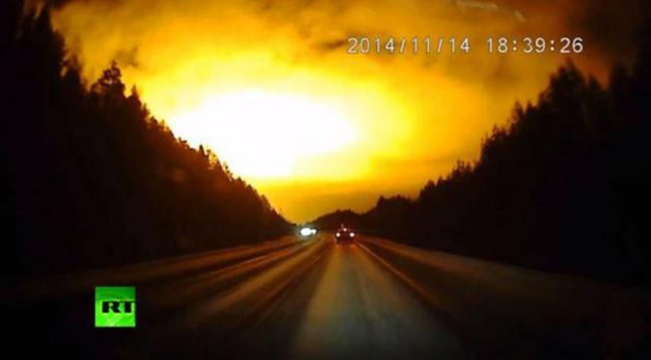 Observan apocalíptico destello en Rusia