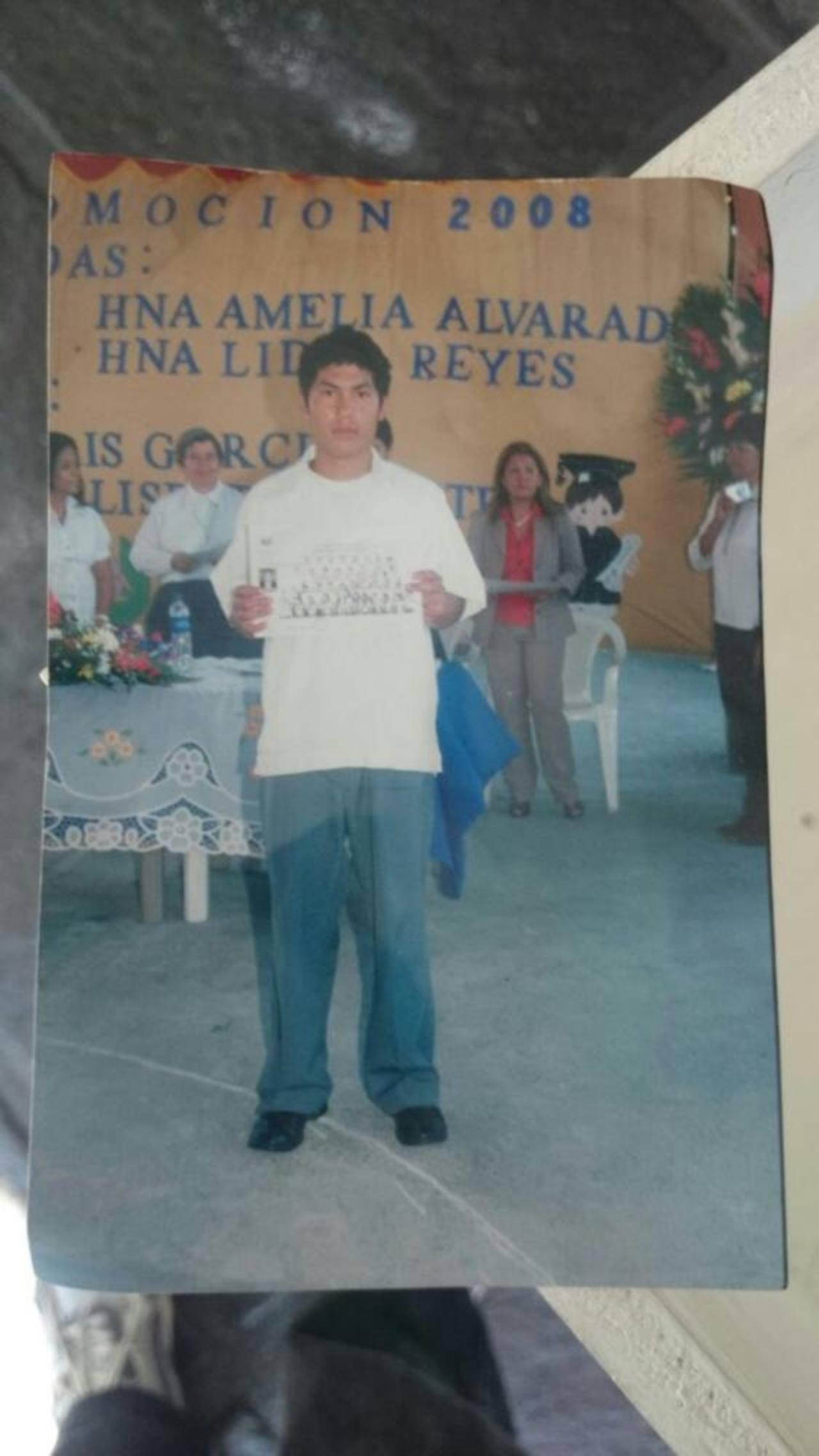 José Amílcar Ramos Díaz desapareció el 4 de noviembre, en Santo Domingo, San Vicente. Información al 7884-4425. Foto EDH