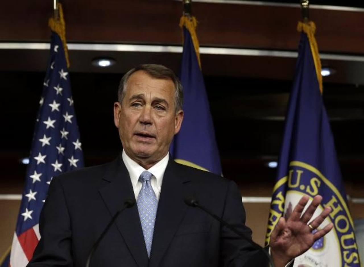 El presidente de la Cámara de Representantes, John Boehner, durante la conferencua de ayer en Washington. foto edh/Reuters