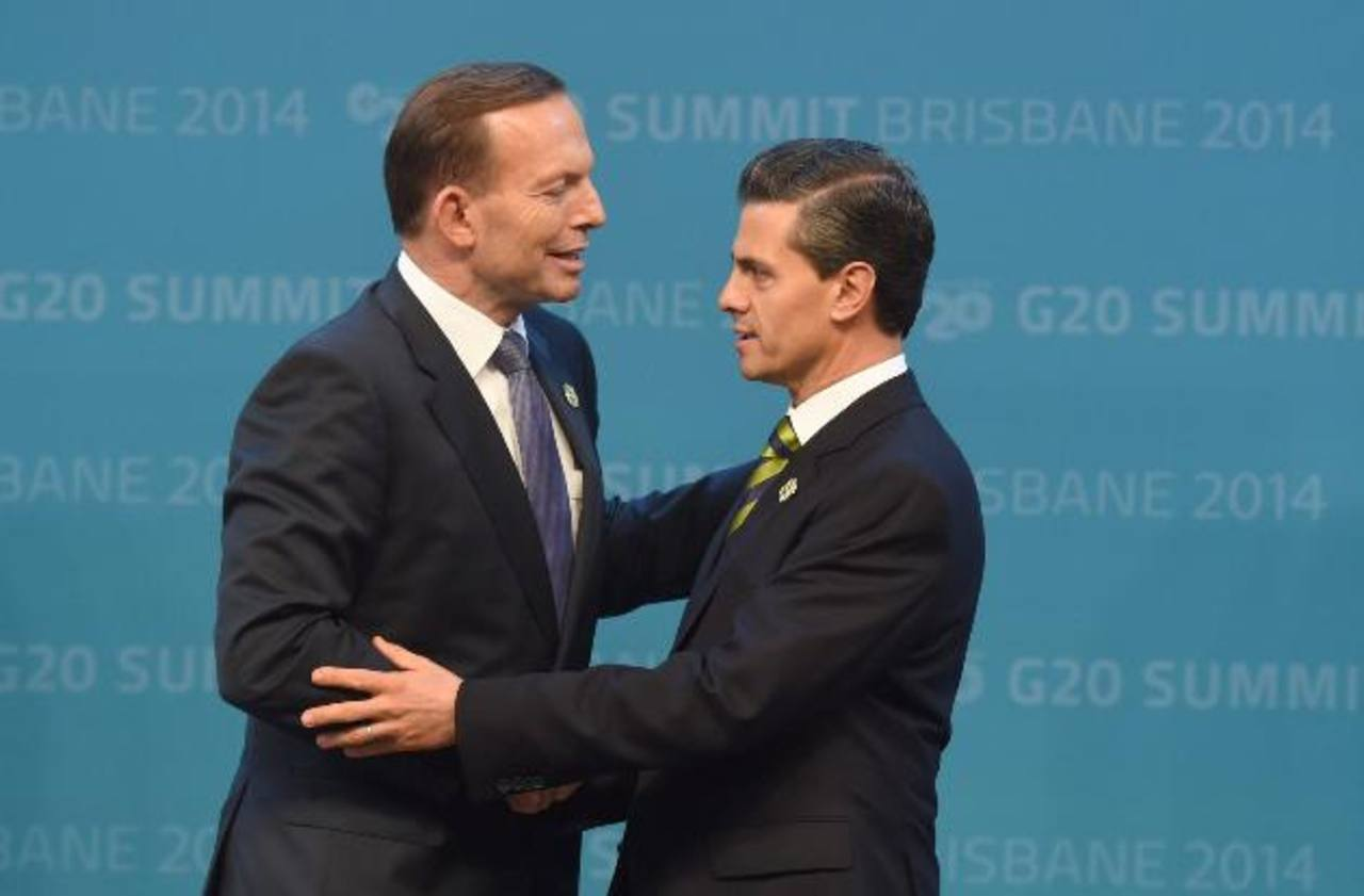 Primer ministro de Australia, Tony Abbott y Peña Nieto.