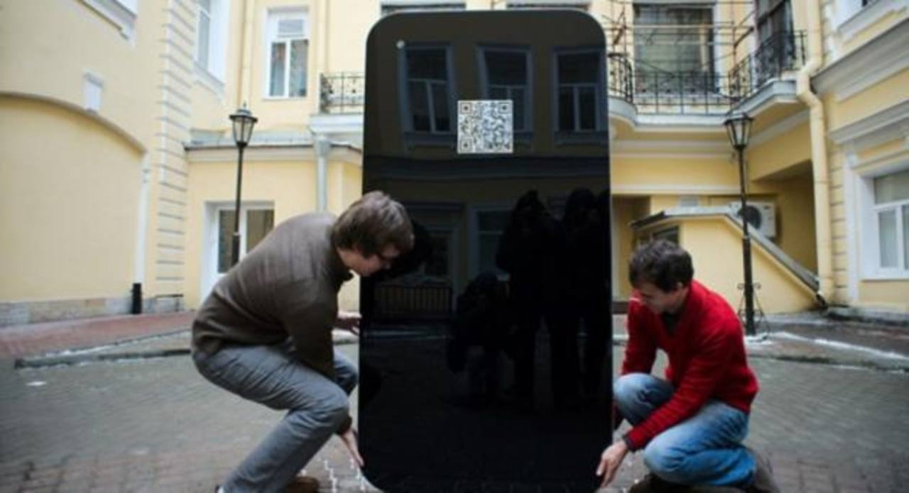 Retiran estatua rusa de Apple tras anuncio de Cook