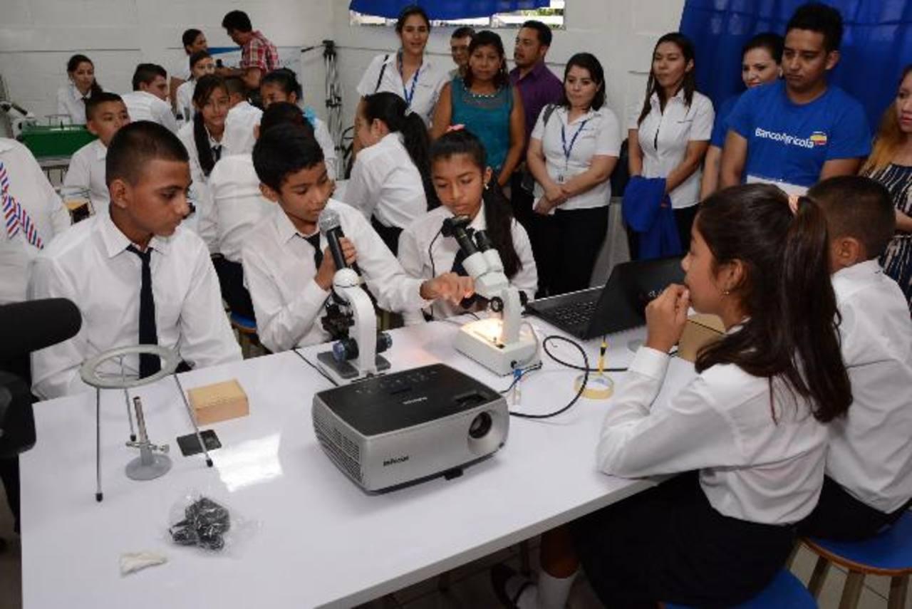 Los estudiantes pondrán en práctica los conocimiento adquiridos en el aula. Foto EDH / Mario Díaz