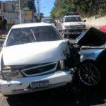 Vehículos involucrados en el accidente./