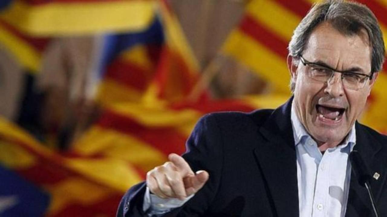 El presidente de Cataluña, Artur Mas, durante un mitin en Barcelona.