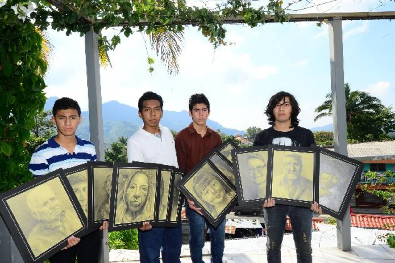 Roberto Chiquillo, Juan Carlos Cruz, Héctor Andrés y José Luis Serrano exhibirán sus rostros. foto EDH / Omar Carbonero