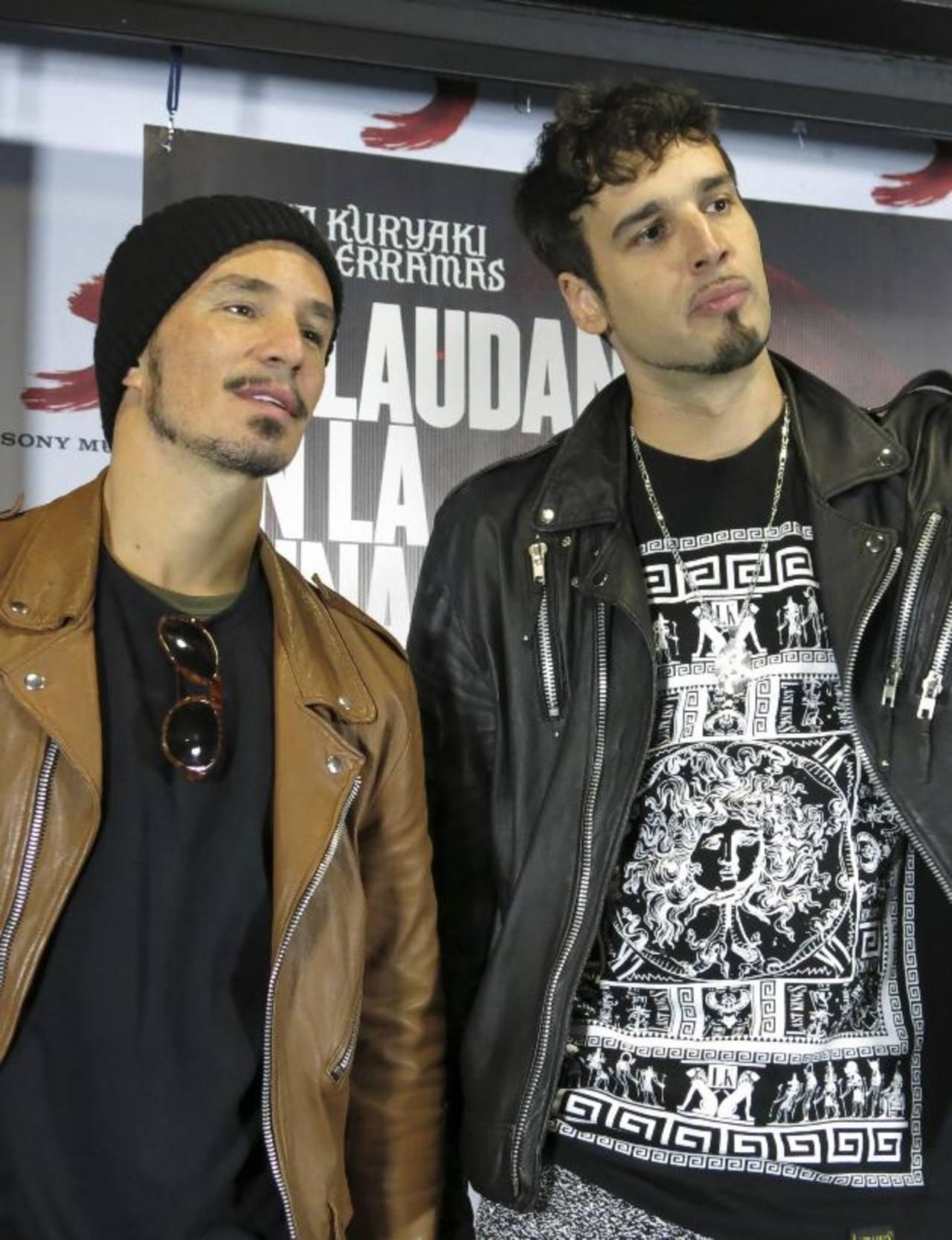 Emmanuel Horvilleur y Dante Spinetta del dúo argentino Illya Kuryaki and the Valderramas. Foto EDH / aP