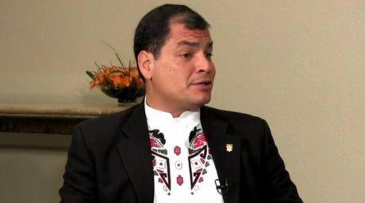 Rafael Correa, presidente de Ecuador. foto edh / archivo.