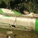 Al menos ocho lesionados en accidente de tránsito en Ahuachapán