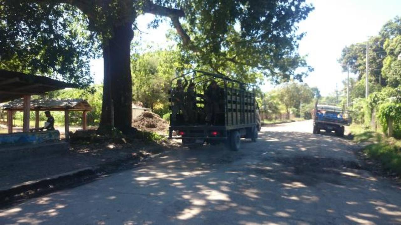 Operativo militar ayer en Tihuilocoyo, luego de enfrentamiento.