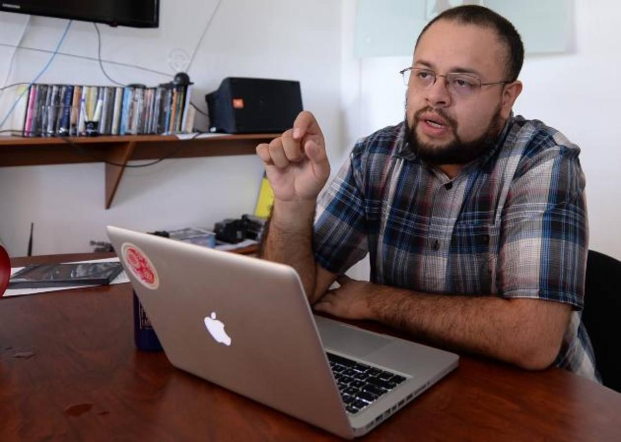 El productor Francisco Morales detalló sobre la etapa final del proyecto cinematográfico. foto EDH / Húber Rosales.