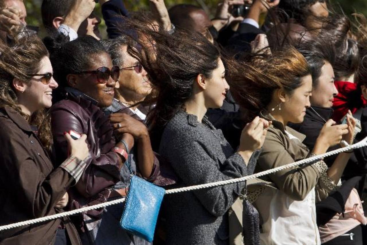Un grupo de mujeres durante un acto en el Jardín Sur de la Casa Blanca el pasado jueves en Washington. foto edh / AP