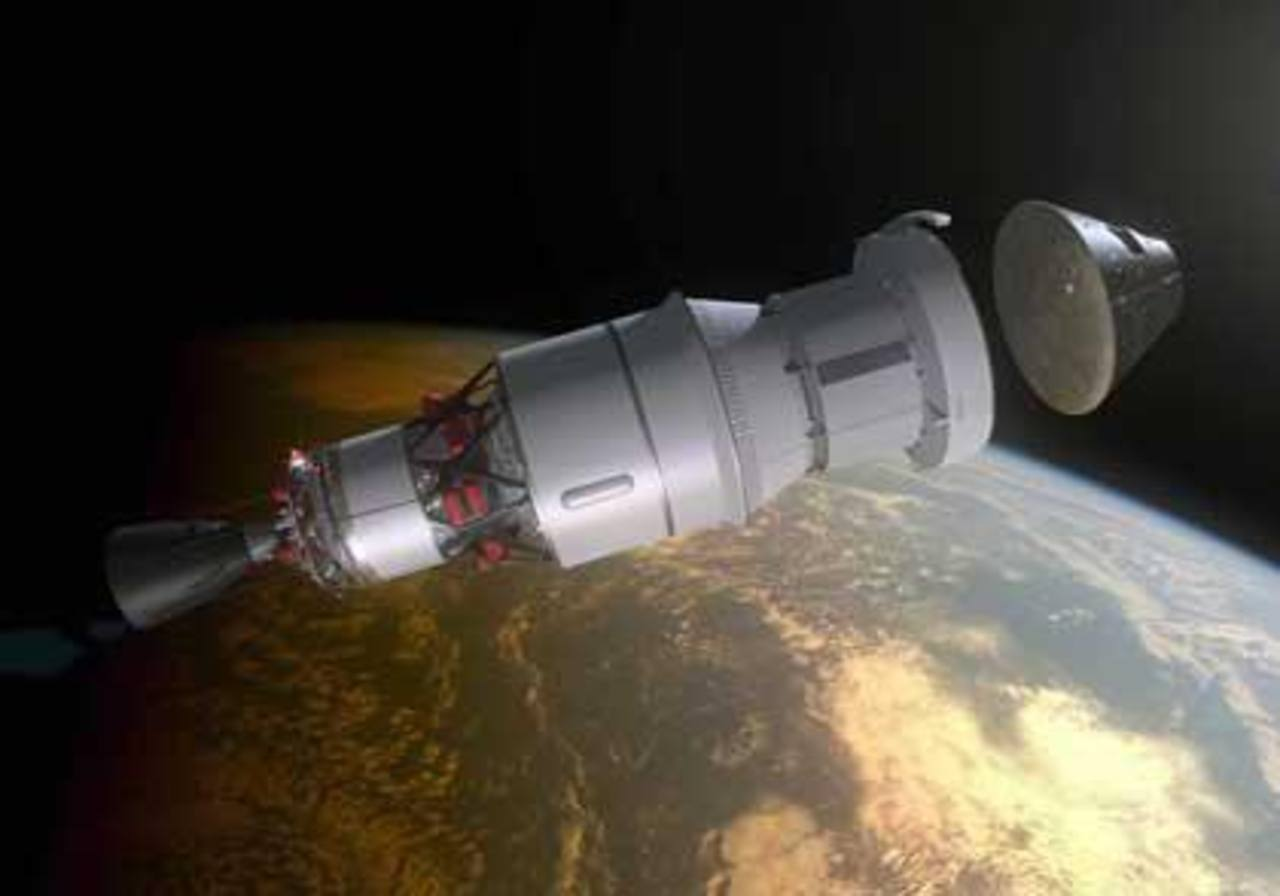 La cápsula que viajó a 24,000 kilómetros por hora y dio dos vueltas a la Tierra a una distancia de 5,793 kilómetros.