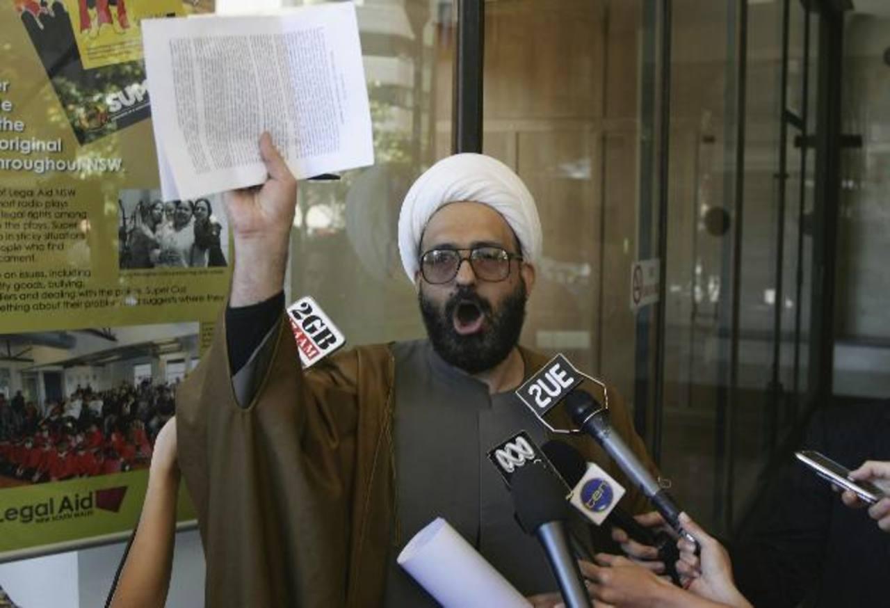 Man Haron Monis, el hombre de origen iraní que habría mantenido secuestradas a varias personas dentro de una cafetería. El sospechoso murió.