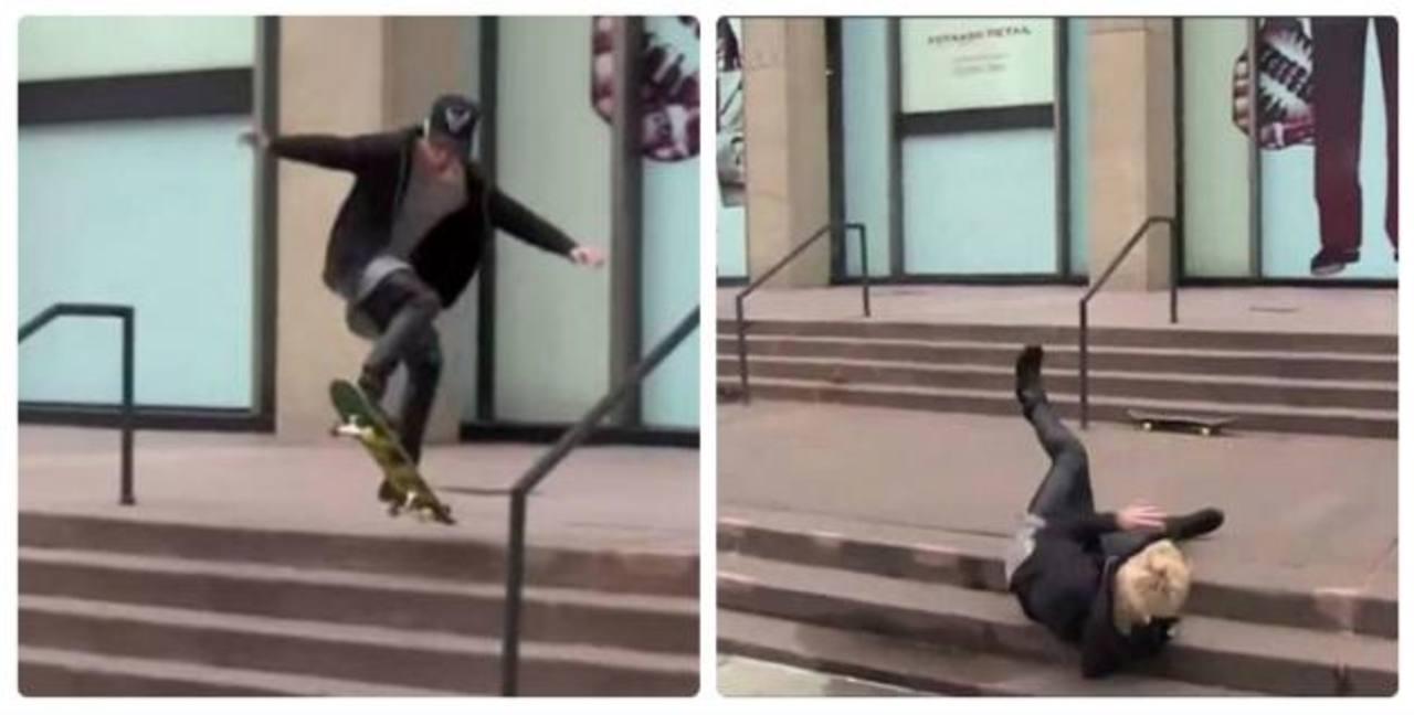 La vergonzosa caída de Justin Bieber practicando skate