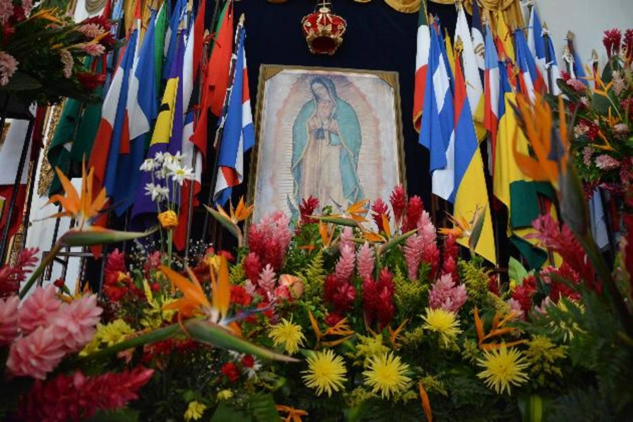 La parroquia Nuestra Señora de Guadalupe luce sus mejores galas, durante la semana de veneración a la Virgen Morena. Foto edh / carlos segovia