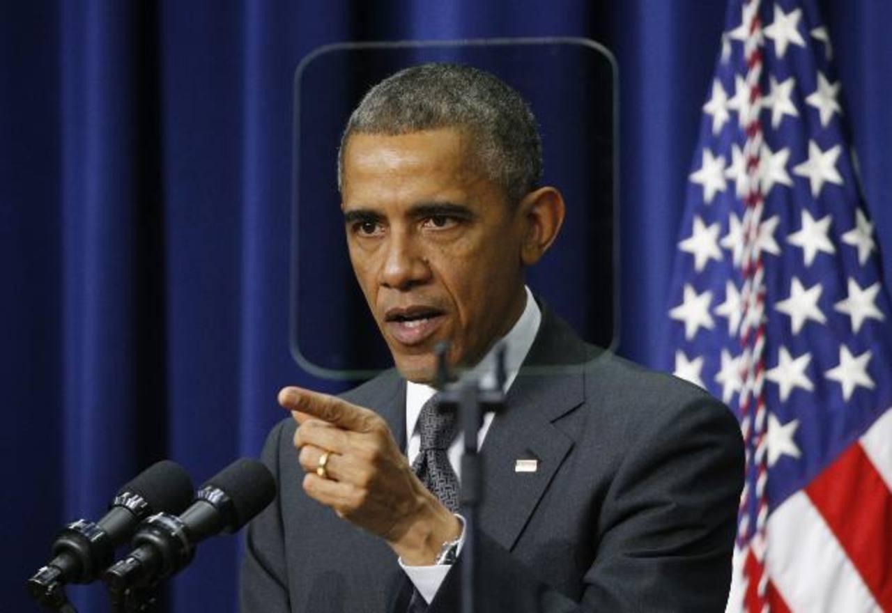 El presidente de EE. UU., Barack Obama, en una conferencia de prensa. foto edh / reuters