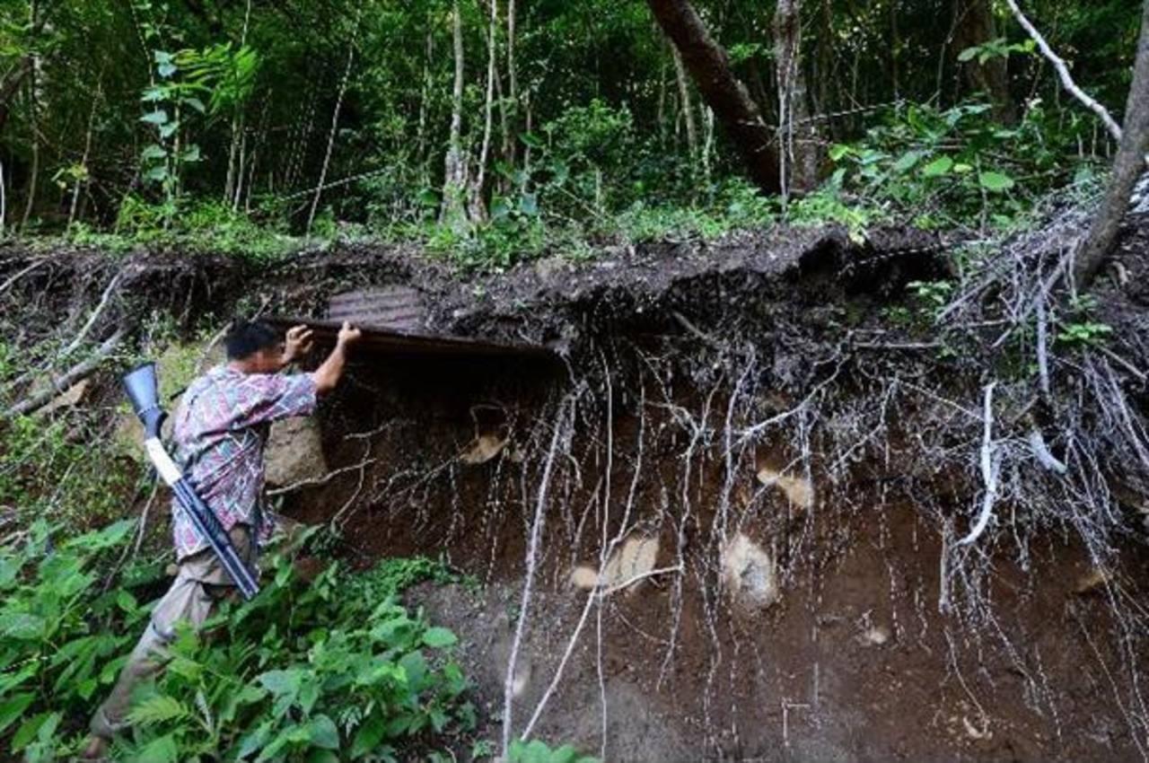 En noviembre, la Fiscalía y la PNC reportaron el decomiso de explosivos del tipo TNT que, supuestamente, había sido encontrado en un campamento en las faldas del volcán Chichontepec.