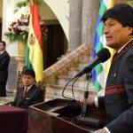 Evo Morales reconoce que la bonanza acabó para Bolivia