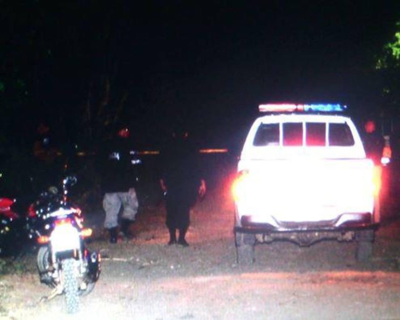 Sitio del homicidio del agente policial.