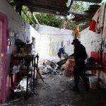 En esta casa funcionaba la cohetería ilegal que explotó el 22 de diciembre en Tonacatepeque.