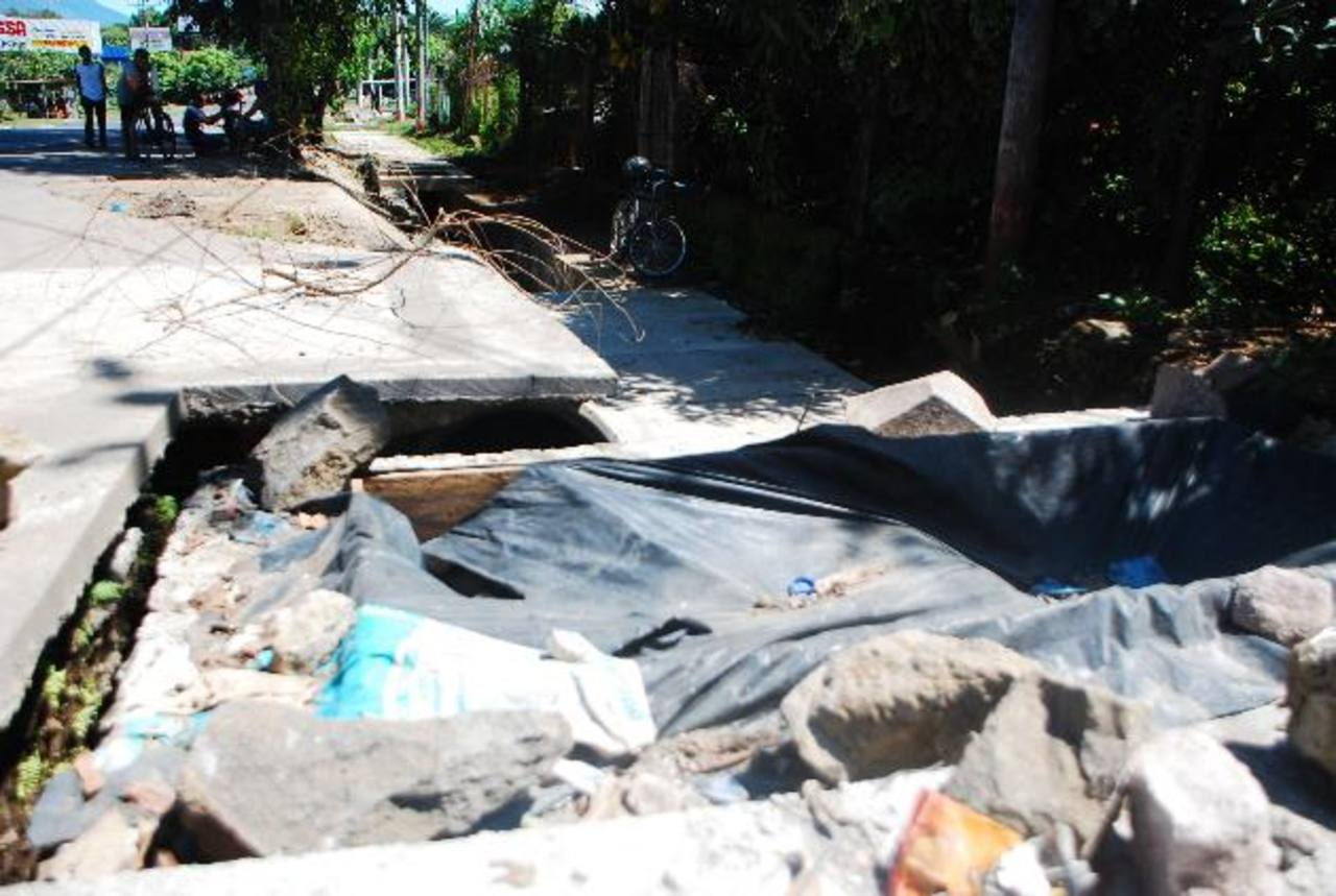 Los trabajos se encuentran abandonados por la comuna usuluteca. Fotos edh / Jenny ventura