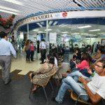 Así lucían las instalaciones de Migración en el centro comercial Las Cascadas, en Antiguo Cuscatlán. foto edh / rené quintanilla