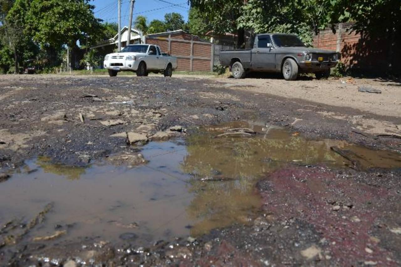 En la zona las calles lucen en mal estado y nadie las repara. Fotos EDH / cristian Díaz