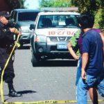 Foto: PNC custodia escena de homicidio de un pandero en Cuscatlán.