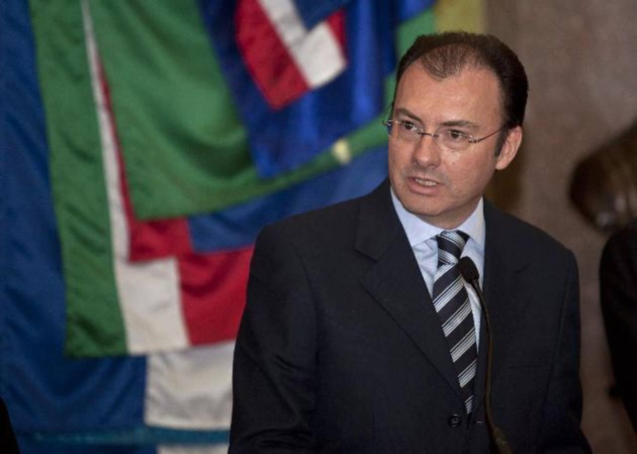 Luis Videgaray, actual secretario de Hacienda de México. AP