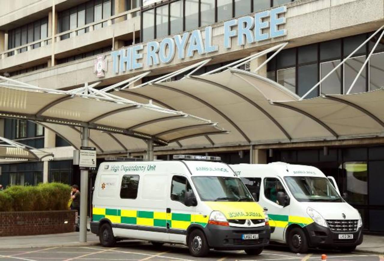 El hospital Royal Free, Londres, donde está la contagiada.