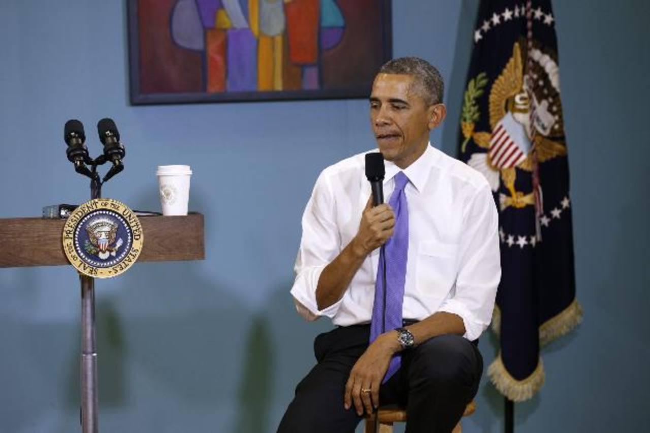 El presidente Barack Obama habla de su plan migratorio ayer en Nashville, Tennessee.