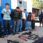 En ésta motocicleta se conducían dos de los siete capturados en Mejicanos.